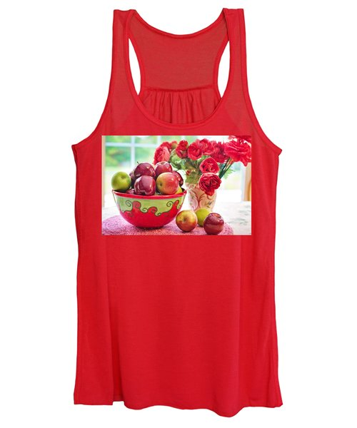 Bowl Of Red Apples Women's Tank Top