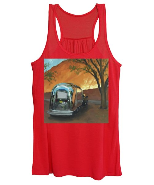 Camping At The Red Rocks Women's Tank Top