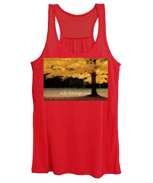 Canopy Of Gold Fall Colors Women's Tank Top