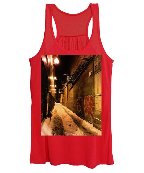 Chicago Alleyway At Night Women's Tank Top