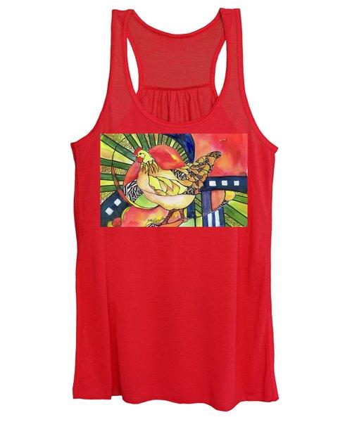 Chicken Red Women's Tank Top