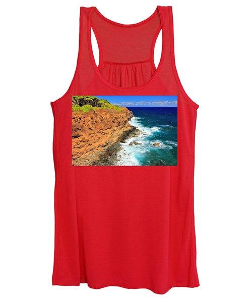 Cliff On Pacific Ocean Women's Tank Top