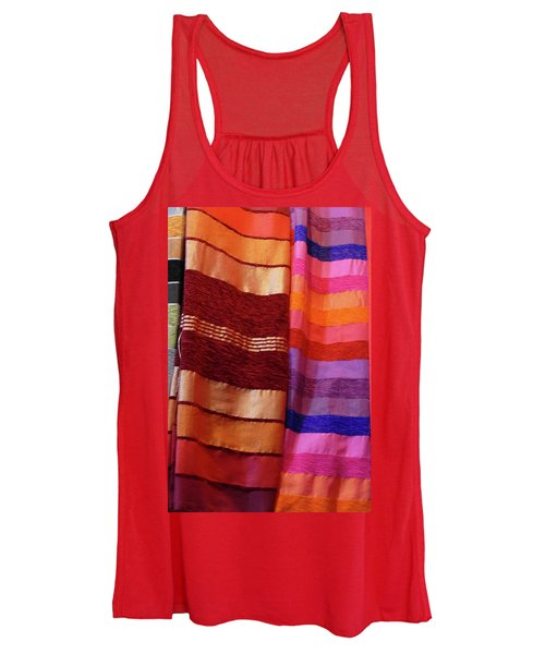 Colorful Fabrics In The Medina Market  Women's Tank Top