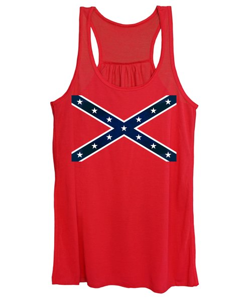 Confederate Stars And Bars T-shirt Women's Tank Top