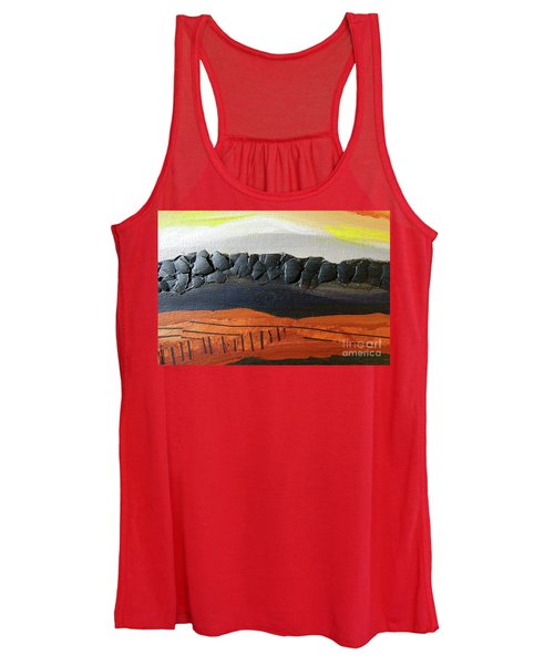 Desert Mountain Sunset Women's Tank Top