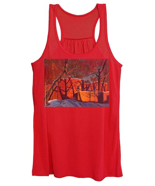 Evening Shadows On A Round Taos House Women's Tank Top
