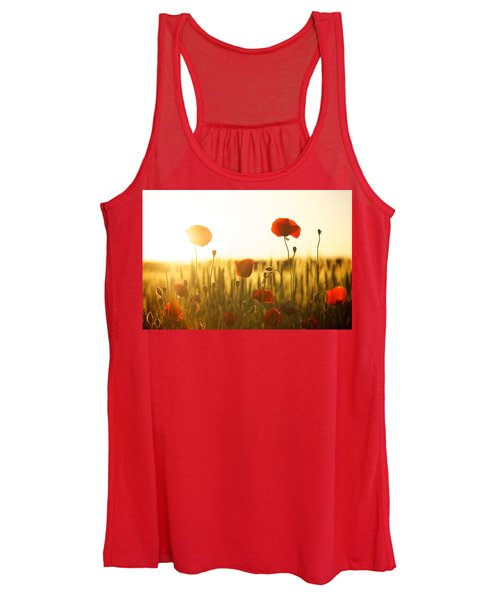 Field Of Poppies At Dawn Women's Tank Top