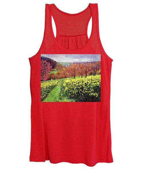 Fields Of Golden Daffodils Women's Tank Top