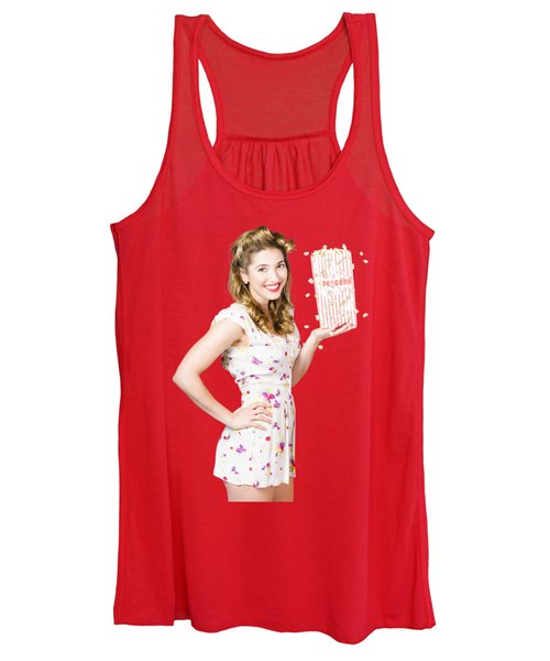 Film And Cinema Pin-up Lady Women's Tank Top