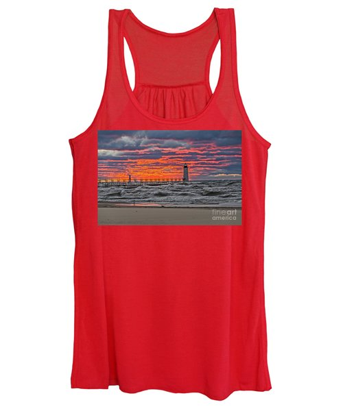 First Day Of Fall Sunset Women's Tank Top