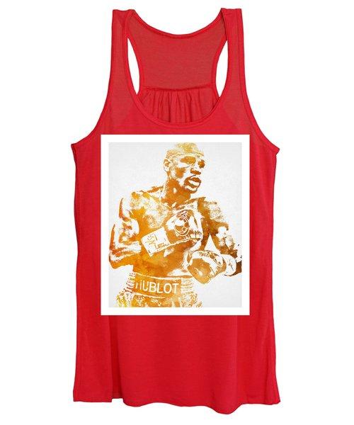 Floyd Mayweather Boxer Pixel Art 1 Women's Tank Top