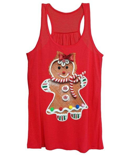 Gingerbread Cookie Girl Women's Tank Top