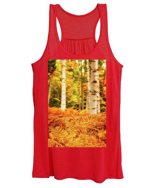 Golden Ferns In The Birch Glade Women's Tank Top