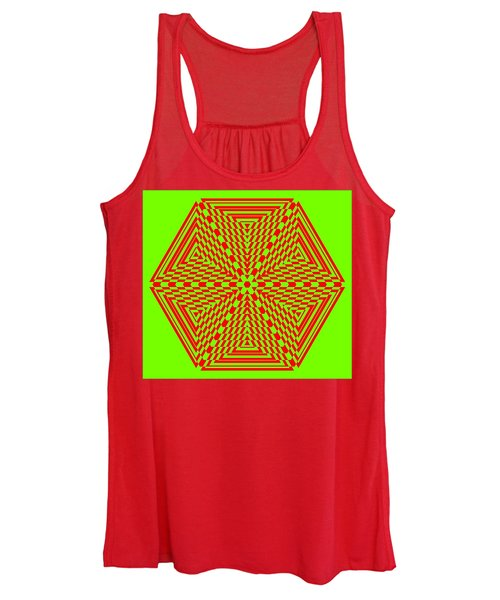 Green And Red Fusion  Women's Tank Top