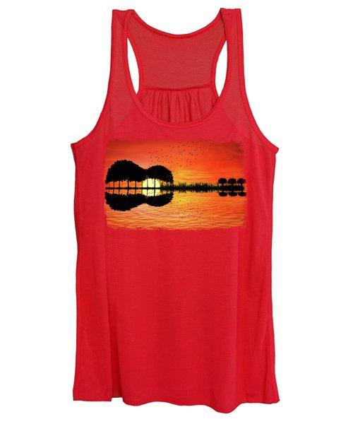 Guitar Island Sunset Women's Tank Top