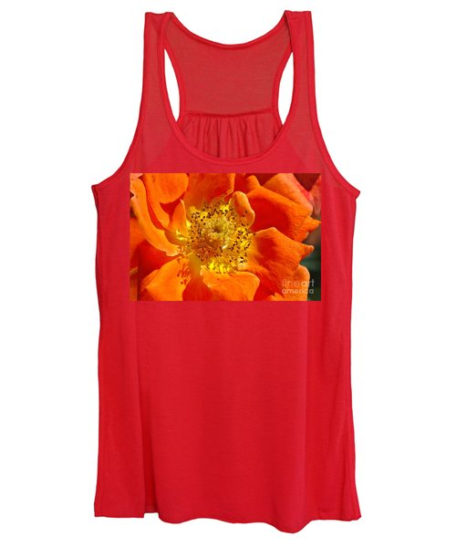 Heart Of The Orange Rose Women's Tank Top