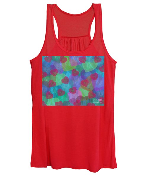 Hearts Aflame Women's Tank Top
