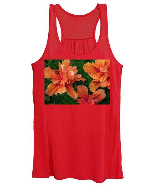 Hibiscus Tripcus Orangus Women's Tank Top