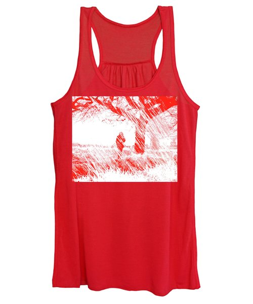 Icy Shards Fall On Setttled Snow Women's Tank Top