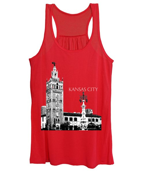 Kansas City Skyline 2 - Dark Orange Women's Tank Top