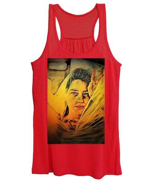 Lady Wrapped In Strings Women's Tank Top