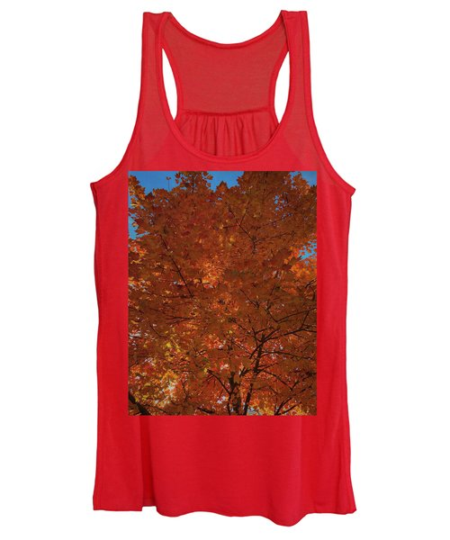 Leaves Of Fire Women's Tank Top