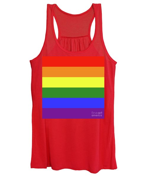 Lgbt 6 Color Rainbow Flag Women's Tank Top