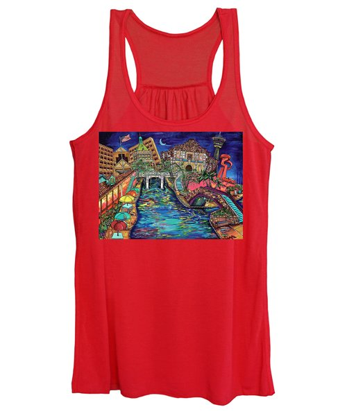 Lights On The Banks Of The River Women's Tank Top