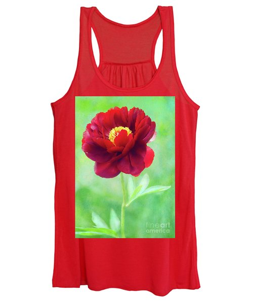 Magnificent Crimson Peony Women's Tank Top