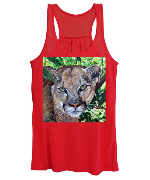 Mountain Lion Portrait Women's Tank Top