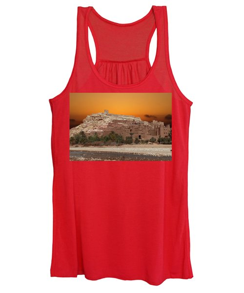 Mud Brick Buildings Of The Ait Ben Haddou Women's Tank Top