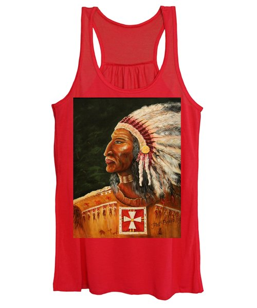 Native American Indian Chief Women's Tank Top