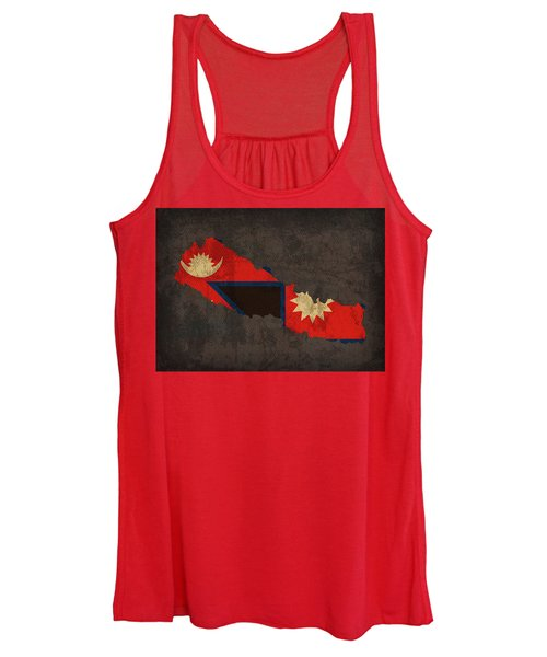 Nepal Country Flag Map Women's Tank Top