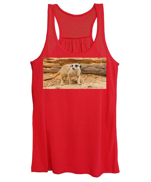 One Meerkat Looking Around. Women's Tank Top