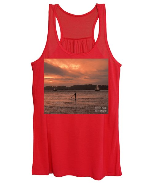 Paddleboarding On The Great Peconic Bay Women's Tank Top