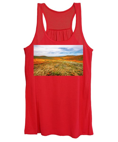 Poppies As Far As The Eye Can See Women's Tank Top