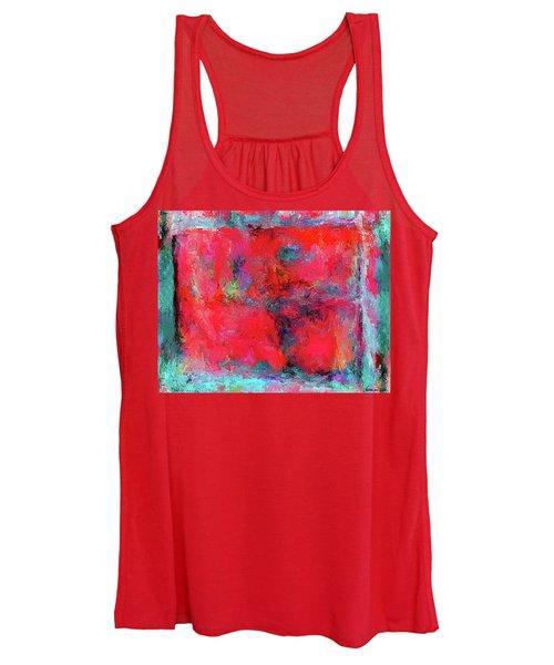 Rectangular Red Women's Tank Top