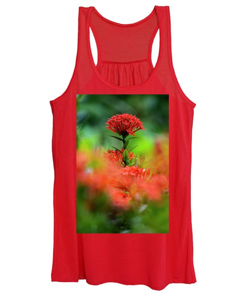 Red Flower Women's Tank Top