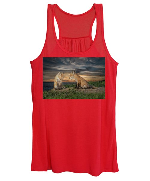 Red Fox Kits - Past Curfew Women's Tank Top