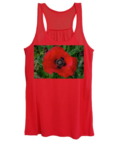 Red Poppy Women's Tank Top