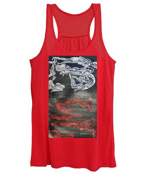Red Strangles White Cells Women's Tank Top