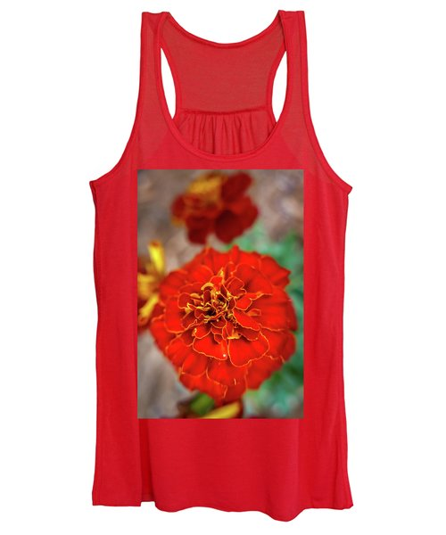 Red Summer Flowers Women's Tank Top