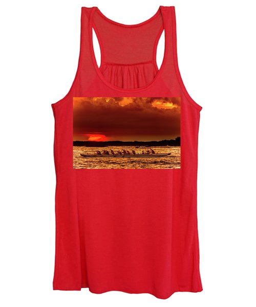 Rowing In The Sunset Women's Tank Top