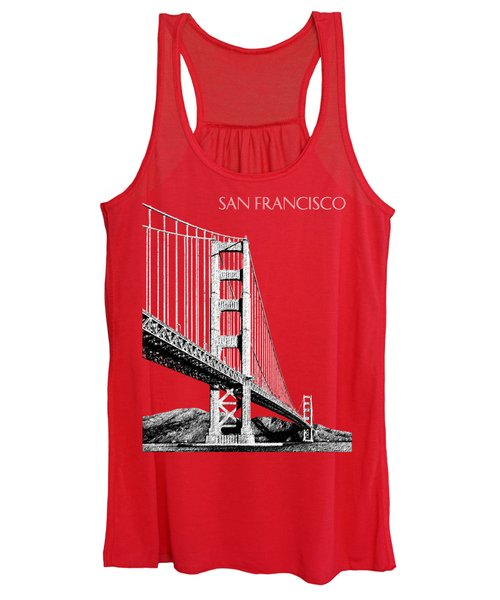 San Francisco Skyline Golden Gate Bridge 2 - Slate Blue Women's Tank Top