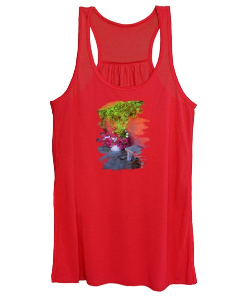 Sidewalk Floral In Brownsville Women's Tank Top