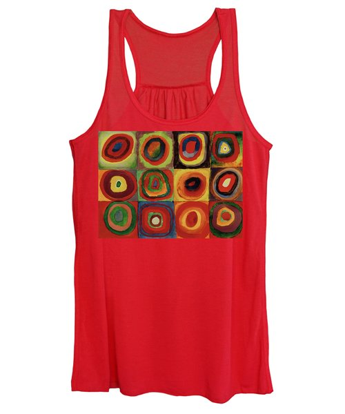 Squares With Concentric Circles 1913  Women's Tank Top