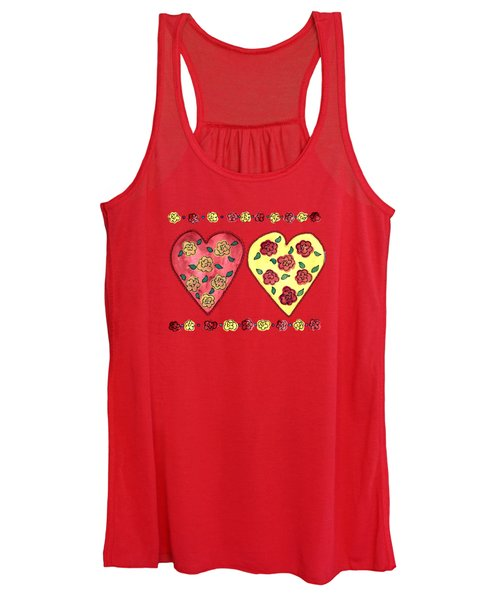 Love And Roses Women's Tank Top