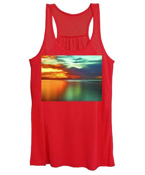 Sunset And Boat Women's Tank Top