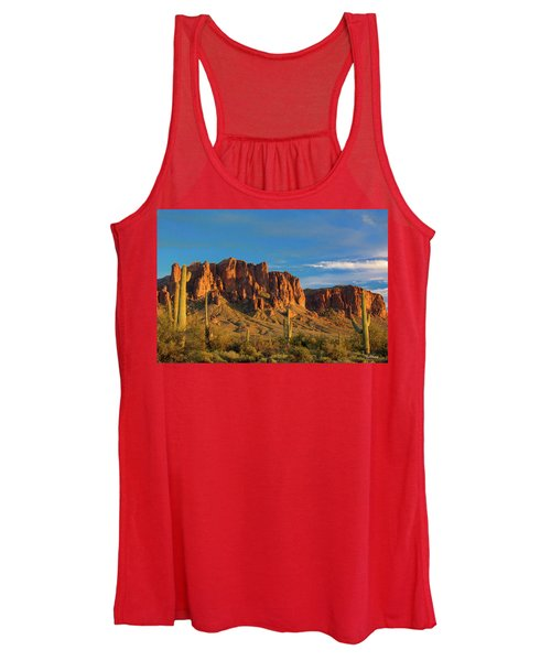 Sunset At Superstition Mountain Women's Tank Top