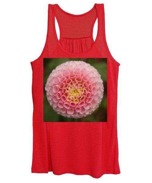 Symmetrical Dahlia Women's Tank Top